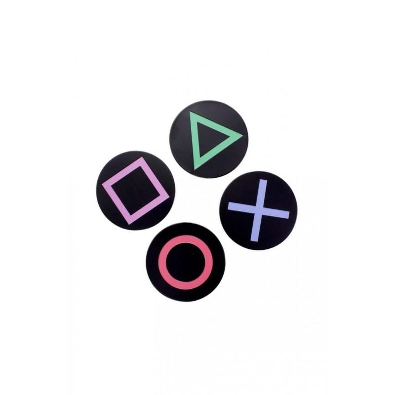 Podtácky PlayStation - set 4ks, kovové