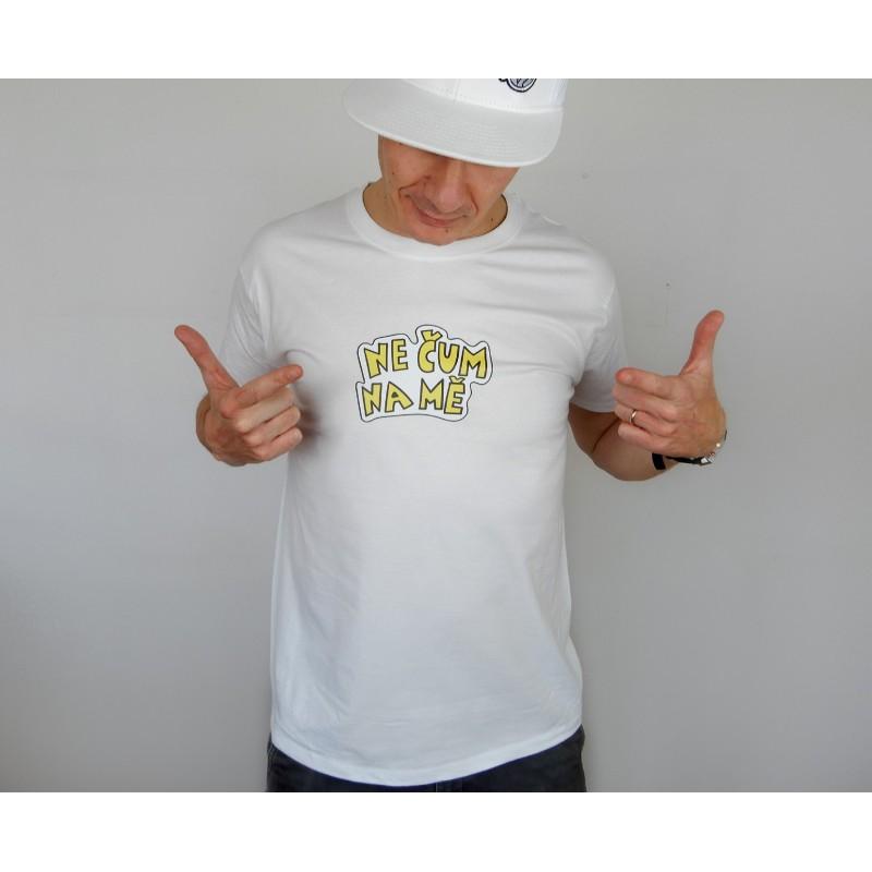 Pánské tričko bílé - barevný potisk -...