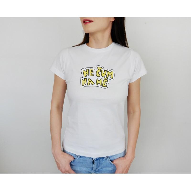 Dámské tričko bílé - barevný potisk -...