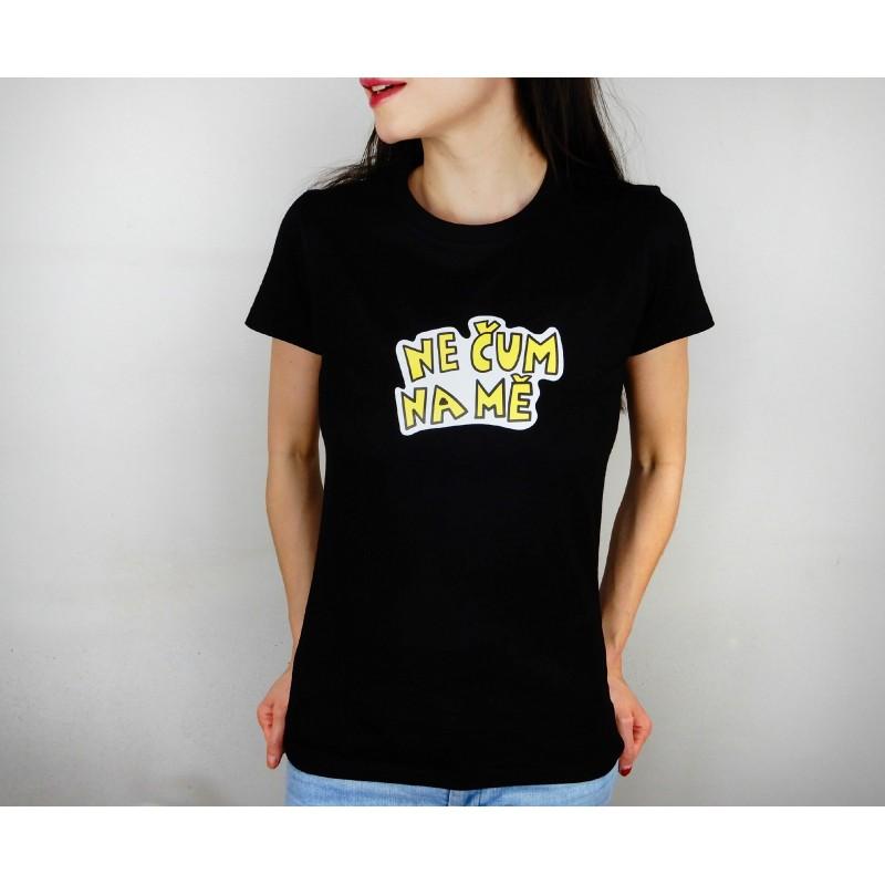 Dámské tričko černé - barevný potisk...