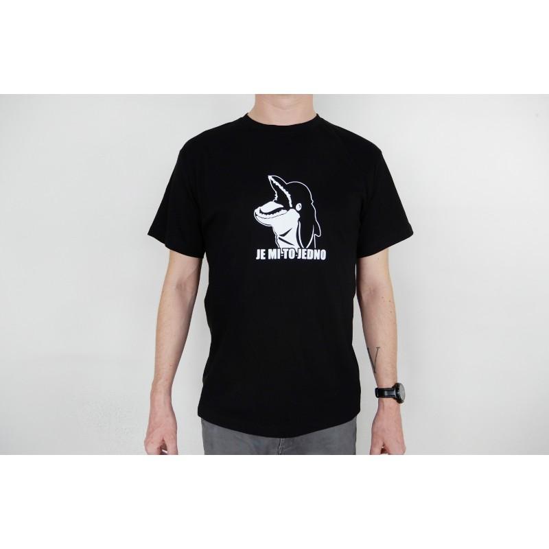 Pánské tričko černé - bílý potisk