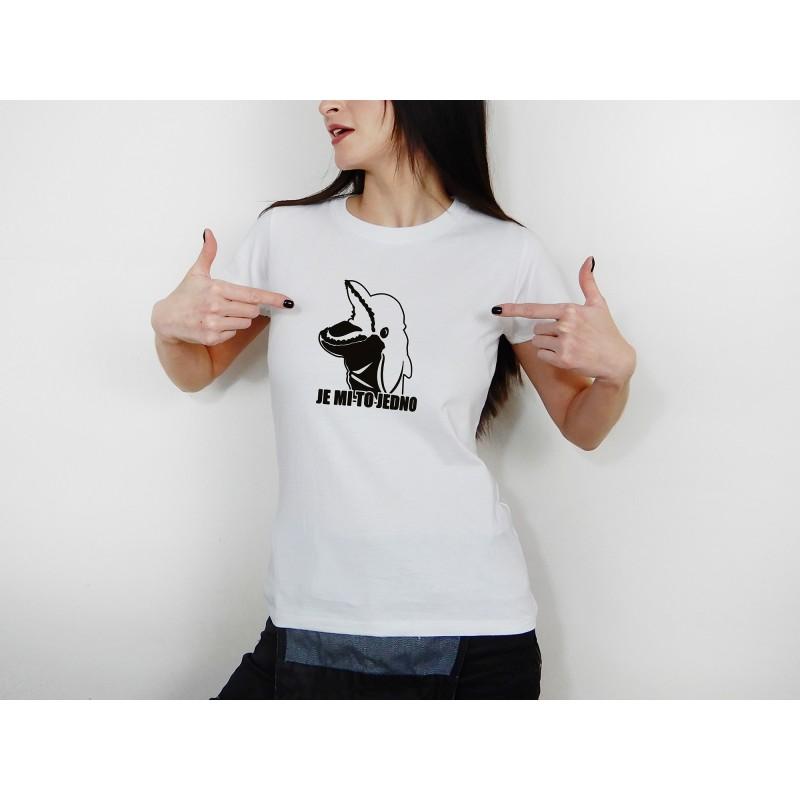 Dámské tričko bílé - černý potisk