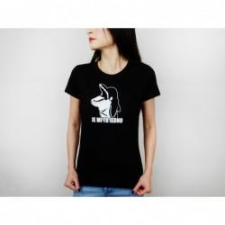 Dámské tričko černé - bílý...