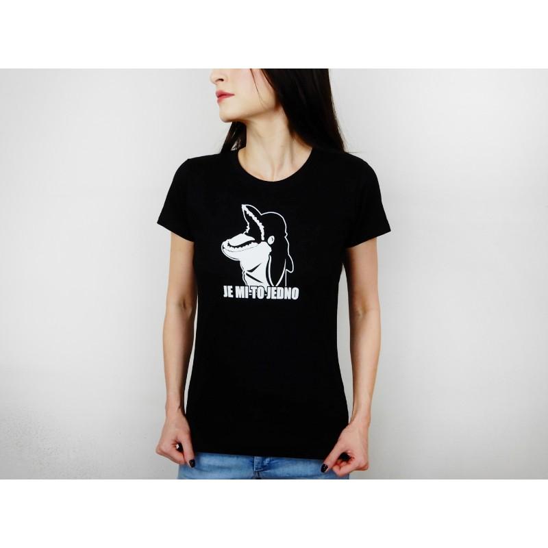 Dámské tričko černé - bílý potisk
