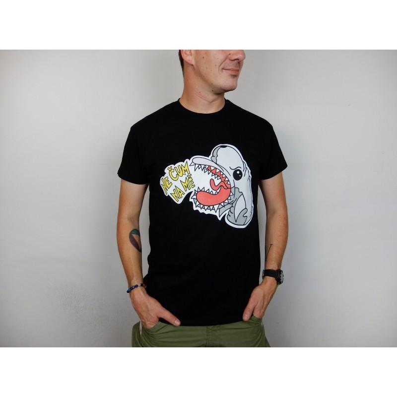 Pánské tričko černé - barevný potisk...