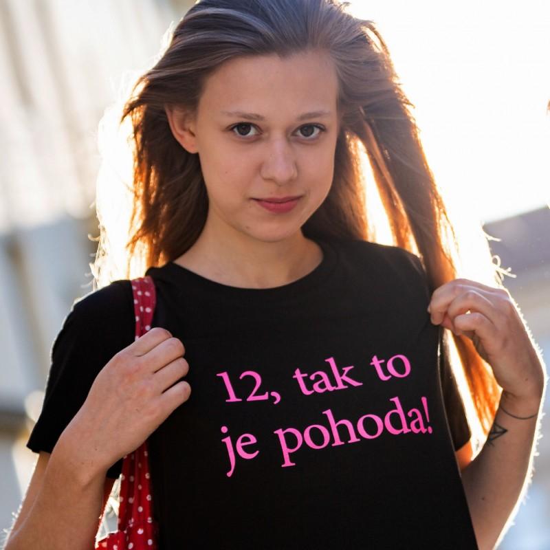 Tričko unisex černé - růžový nápis -...