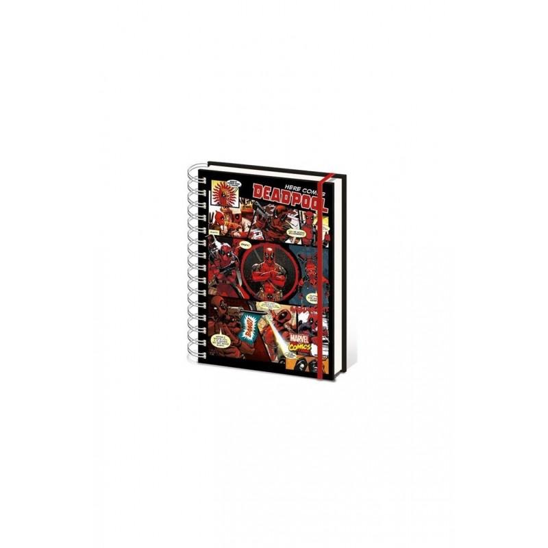 Zápisník Deadpool - Comics colage - A5