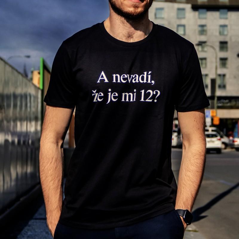 Tričko unisex černé - bílý nápis -...