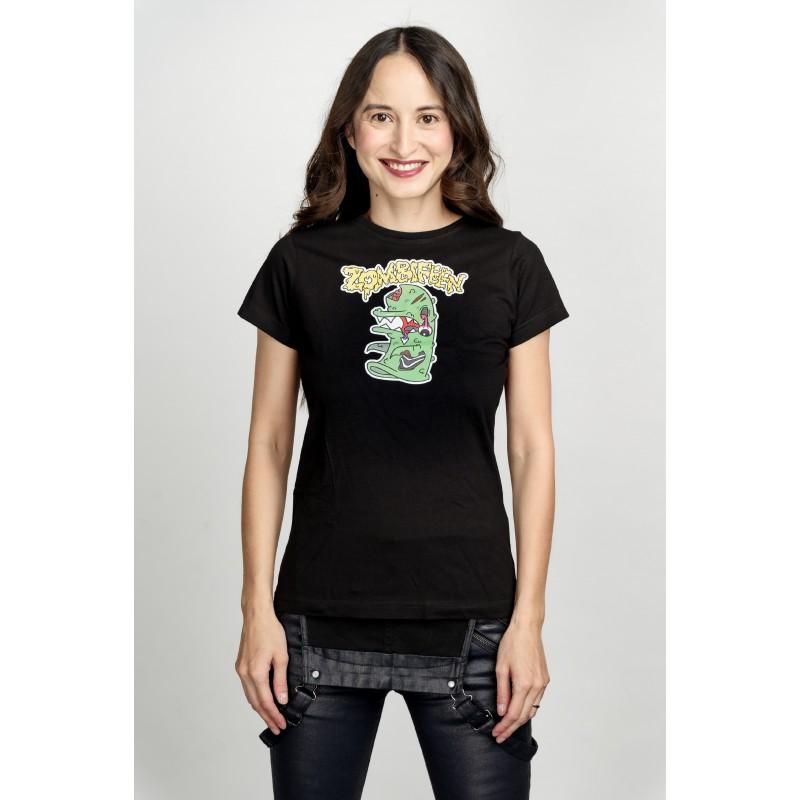 Dámské tričko černé - Zombie