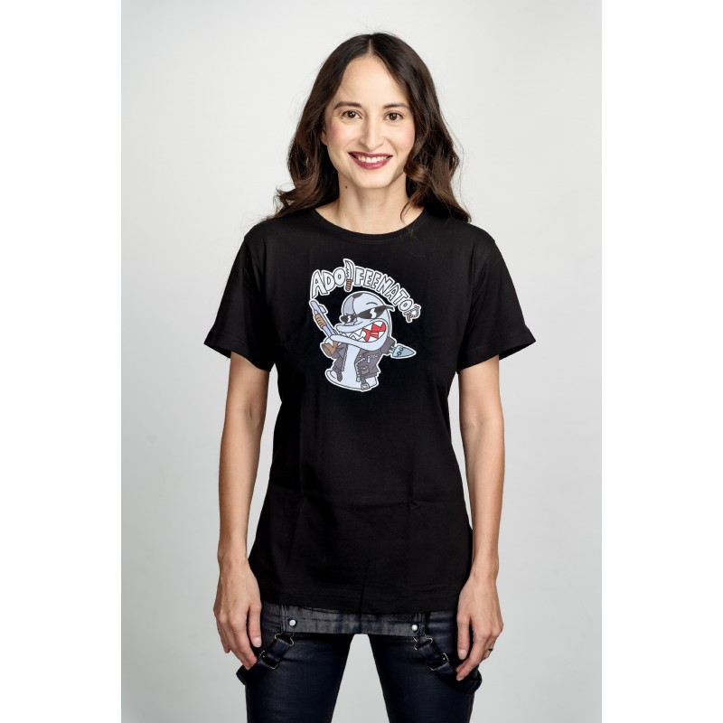 Dámské tričko černé - Adolfeenator