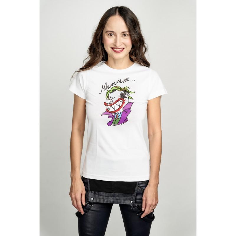 Dámské tričko bílé - Mhmm…