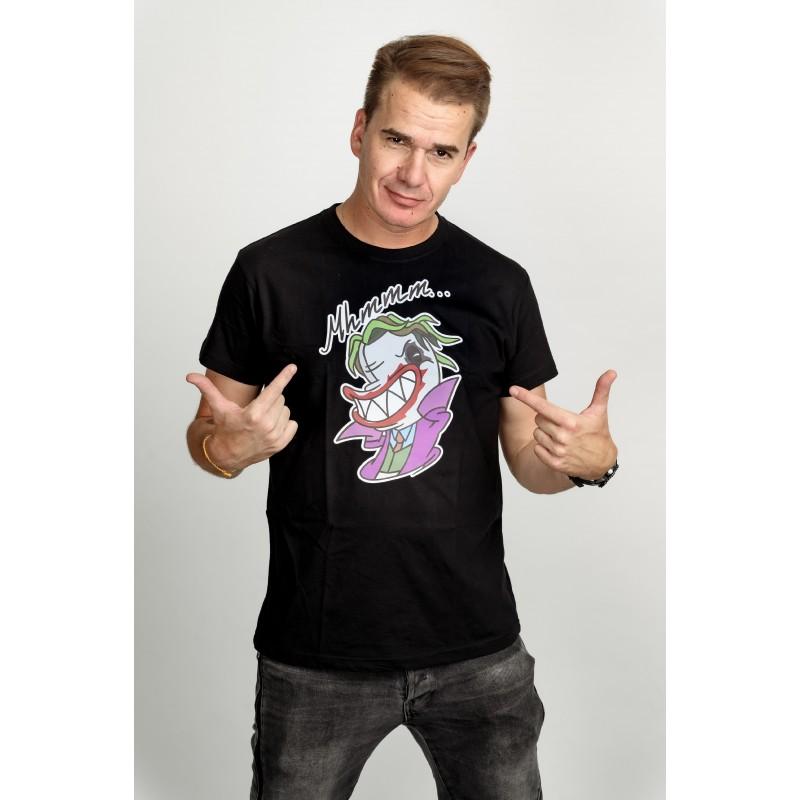 Pánské tričko černé - Mhmm…