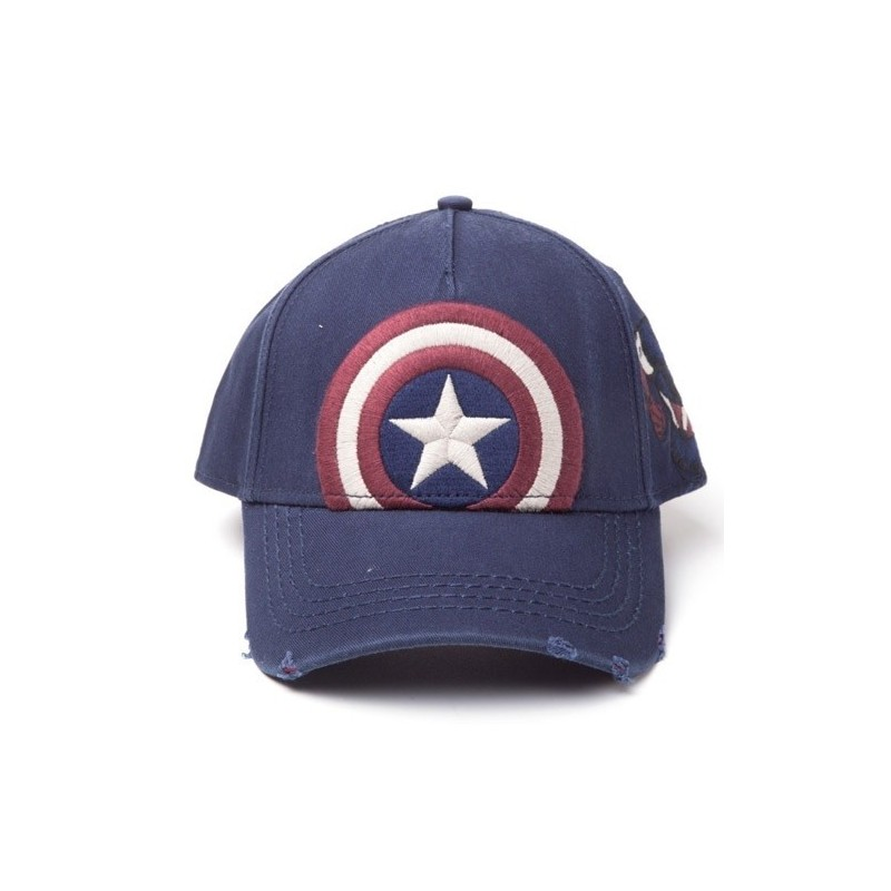 Kšiltovka Captain America - modrá